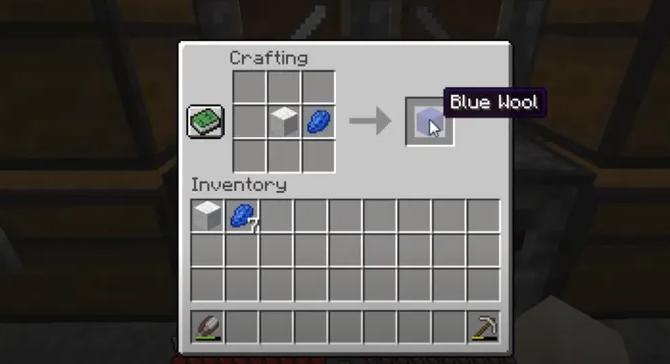 Blue Wool in minecraft