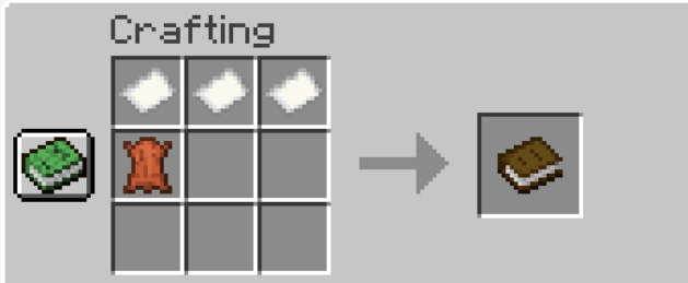 How to craft book in minecraft
