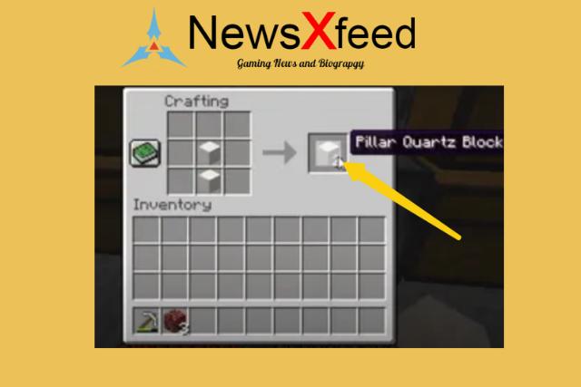 How to make quartz pillar in mincraft