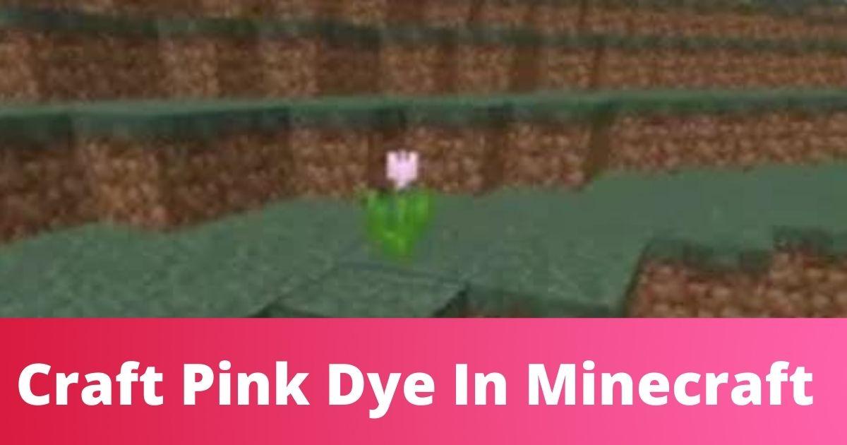 Make pink dye in minecraft