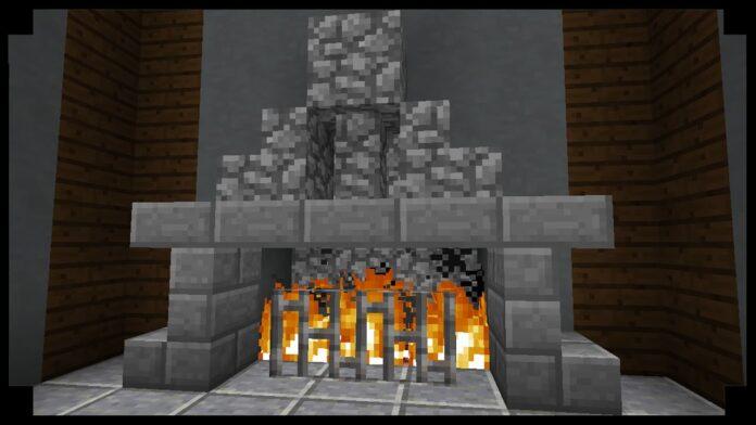 make FirePlace in Minecraft