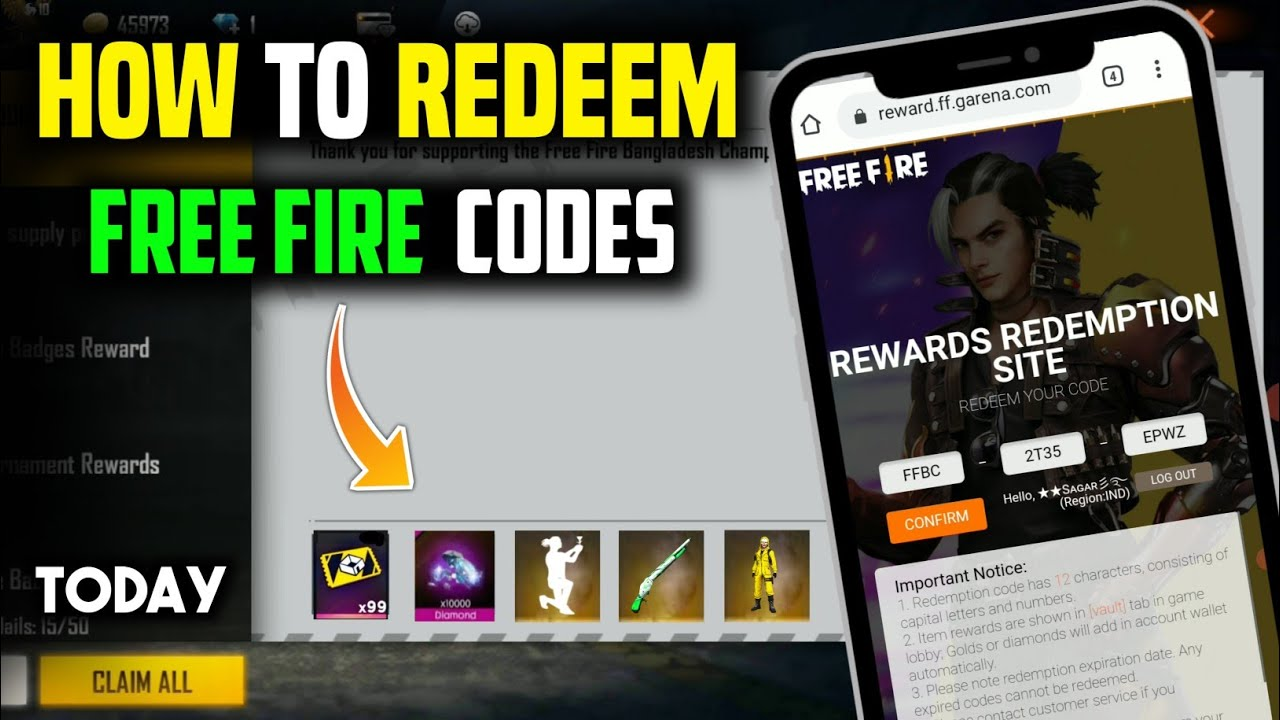 Free Fire Redeem Code Today 20 August 2021